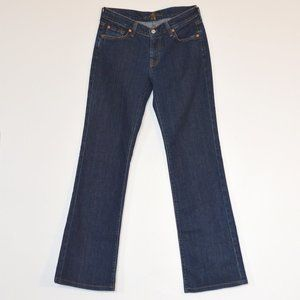 7 For All Mankind Wide Leg Blue Jeans